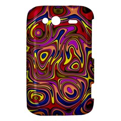 Abstract Shimmering Multicolor Swirly HTC Wildfire S A510e Hardshell Case
