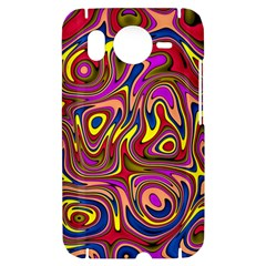 Abstract Shimmering Multicolor Swirly HTC Desire HD Hardshell Case