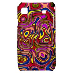 Abstract Shimmering Multicolor Swirly Samsung Galaxy S i9000 Hardshell Case