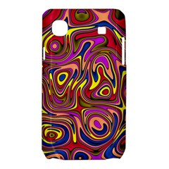 Abstract Shimmering Multicolor Swirly Samsung Galaxy SL i9003 Hardshell Case