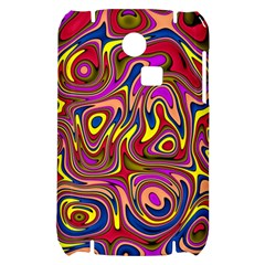 Abstract Shimmering Multicolor Swirly Samsung S3350 Hardshell Case