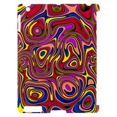 Abstract Shimmering Multicolor Swirly Apple iPad 2 Hardshell Case (Compatible with Smart Cover)