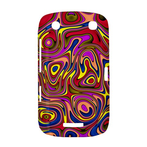Abstract Shimmering Multicolor Swirly BlackBerry Curve 9380