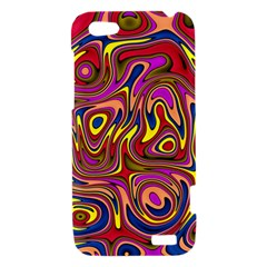 Abstract Shimmering Multicolor Swirly HTC One V Hardshell Case
