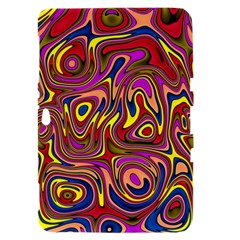Abstract Shimmering Multicolor Swirly Samsung Galaxy Tab 8.9  P7300 Hardshell Case