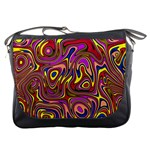 Abstract Shimmering Multicolor Swirly Messenger Bags Front