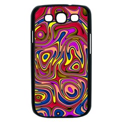 Abstract Shimmering Multicolor Swirly Samsung Galaxy S III Case (Black)