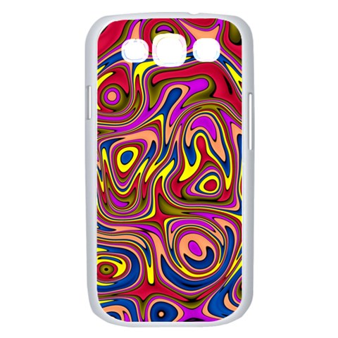 Abstract Shimmering Multicolor Swirly Samsung Galaxy S III Case (White)