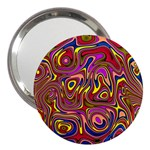 Abstract Shimmering Multicolor Swirly 3  Handbag Mirrors Front