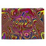Abstract Shimmering Multicolor Swirly Cosmetic Bag (XXL)  Back
