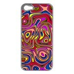 Abstract Shimmering Multicolor Swirly Apple iPhone 5 Case (Silver) Front