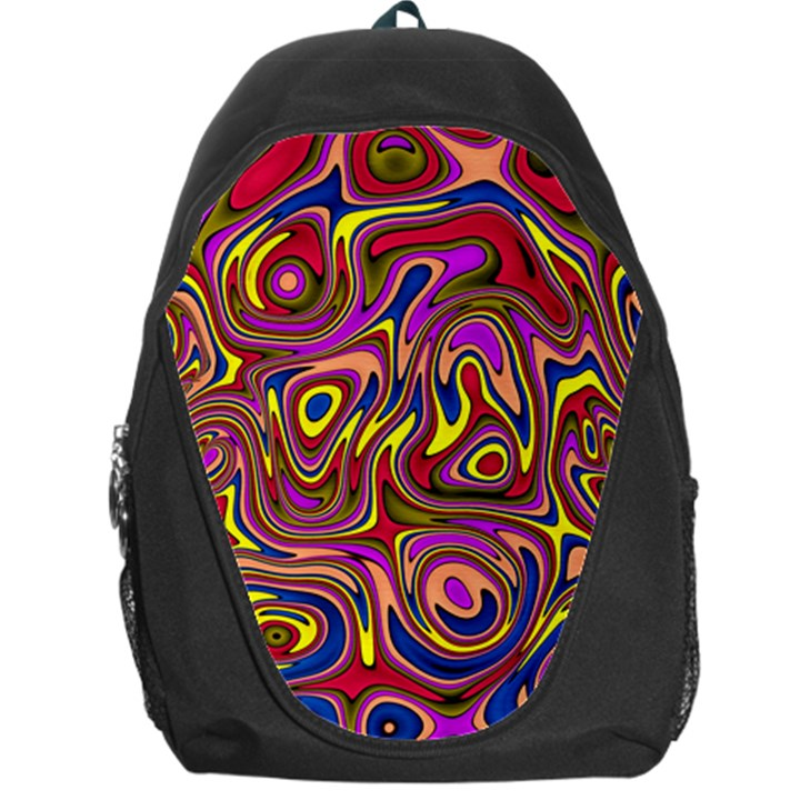 Abstract Shimmering Multicolor Swirly Backpack Bag