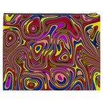 Abstract Shimmering Multicolor Swirly Cosmetic Bag (XXXL)  Back