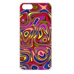 Abstract Shimmering Multicolor Swirly Apple iPhone 5 Seamless Case (White) Front