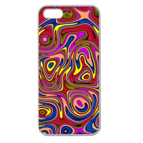 Abstract Shimmering Multicolor Swirly Apple Seamless iPhone 5 Case (Clear)