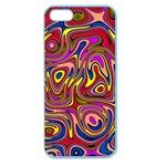 Abstract Shimmering Multicolor Swirly Apple Seamless iPhone 5 Case (Color) Front