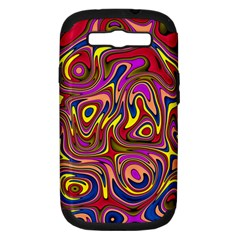 Abstract Shimmering Multicolor Swirly Samsung Galaxy S Iii Hardshell Case (pc+silicone)