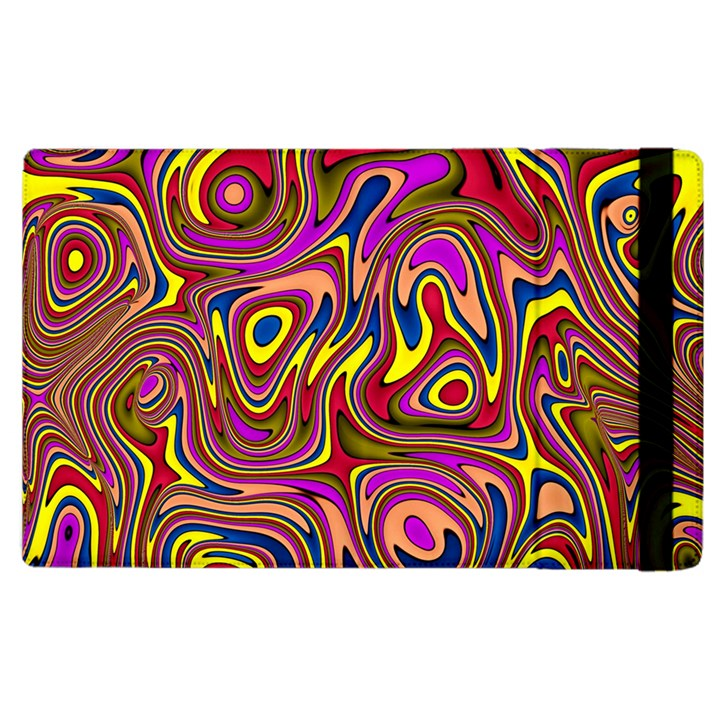 Abstract Shimmering Multicolor Swirly Apple iPad 3/4 Flip Case