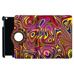 Abstract Shimmering Multicolor Swirly Apple iPad 3/4 Flip 360 Case Front