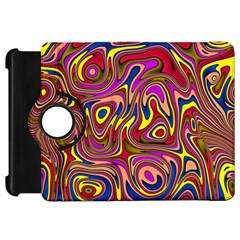 Abstract Shimmering Multicolor Swirly Kindle Fire HD Flip 360 Case