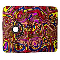 Abstract Shimmering Multicolor Swirly Samsung Galaxy Note II Flip 360 Case