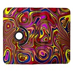 Abstract Shimmering Multicolor Swirly Samsung Galaxy Note II Flip 360 Case Front