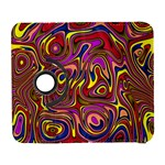 Abstract Shimmering Multicolor Swirly Samsung Galaxy S  III Flip 360 Case Front