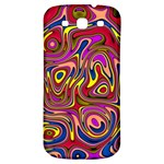 Abstract Shimmering Multicolor Swirly Samsung Galaxy S3 S III Classic Hardshell Back Case Front