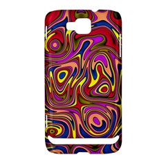 Abstract Shimmering Multicolor Swirly Samsung Ativ S i8750 Hardshell Case