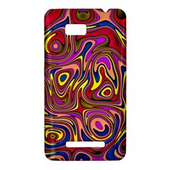Abstract Shimmering Multicolor Swirly HTC One SU T528W Hardshell Case