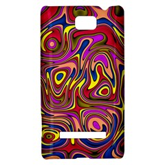Abstract Shimmering Multicolor Swirly HTC 8S Hardshell Case