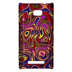Abstract Shimmering Multicolor Swirly HTC 8X