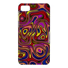 Abstract Shimmering Multicolor Swirly BlackBerry Z10