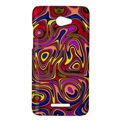 Abstract Shimmering Multicolor Swirly HTC Butterfly X920E Hardshell Case