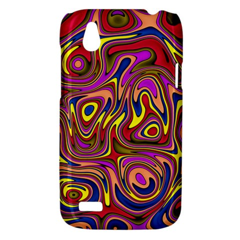 Abstract Shimmering Multicolor Swirly HTC Desire V (T328W) Hardshell Case
