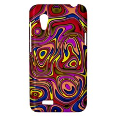 Abstract Shimmering Multicolor Swirly HTC Desire VT (T328T) Hardshell Case