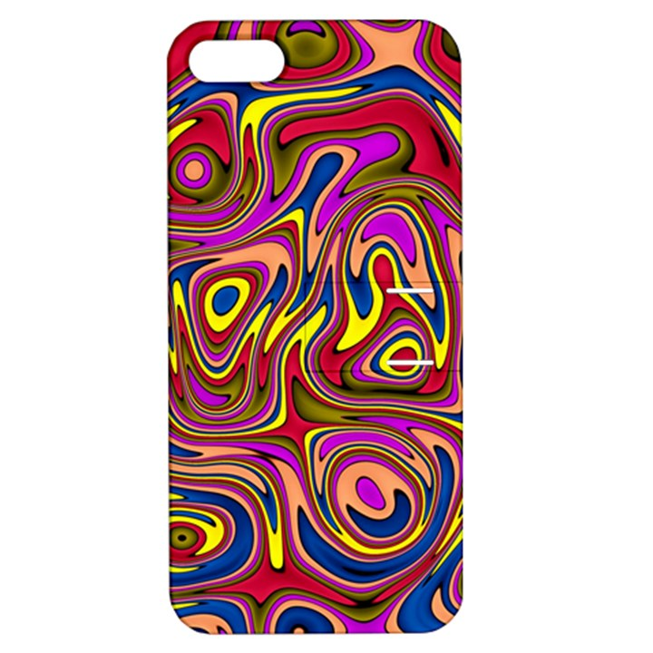 Abstract Shimmering Multicolor Swirly Apple iPhone 5 Hardshell Case with Stand