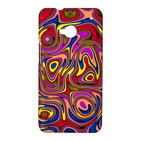 Abstract Shimmering Multicolor Swirly HTC One M7 Hardshell Case