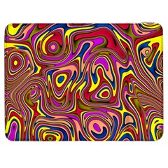Abstract Shimmering Multicolor Swirly Samsung Galaxy Tab 7  P1000 Flip Case