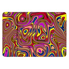 Abstract Shimmering Multicolor Swirly Samsung Galaxy Tab 8.9  P7300 Flip Case