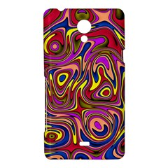 Abstract Shimmering Multicolor Swirly Sony Xperia T