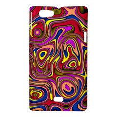 Abstract Shimmering Multicolor Swirly Sony Xperia Miro