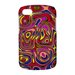 Abstract Shimmering Multicolor Swirly BlackBerry Q10