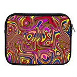 Abstract Shimmering Multicolor Swirly Apple iPad 2/3/4 Zipper Cases Front