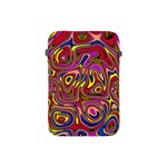 Abstract Shimmering Multicolor Swirly Apple iPad Mini Protective Soft Cases Front
