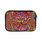 Abstract Shimmering Multicolor Swirly Apple iPad Mini Zipper Cases Front