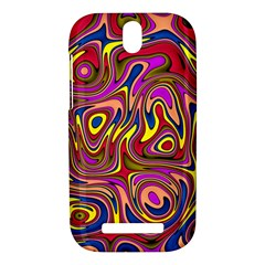 Abstract Shimmering Multicolor Swirly HTC One SV Hardshell Case