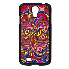Abstract Shimmering Multicolor Swirly Samsung Galaxy S4 I9500/ I9505 Case (Black)