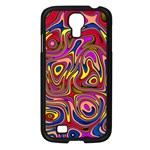 Abstract Shimmering Multicolor Swirly Samsung Galaxy S4 I9500/ I9505 Case (Black) Front