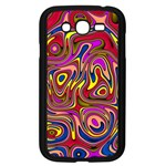 Abstract Shimmering Multicolor Swirly Samsung Galaxy Grand DUOS I9082 Case (Black) Front